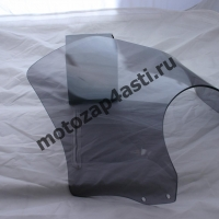 Универсальное ветровое стекло для классика №1 (акрил) + крепеж Дымчатое