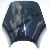 Универсальное ветровое стекло для классика №1 (акрил) + крепеж Черное
