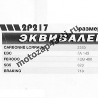 Колодки тормозные 5005, Соответствуют Артикулу: FA143(EBC), 2p-217Nissin)