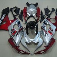 Комплекты пластика Suzuki GSXR1000 05-06 Серебристо-Красно-Черный