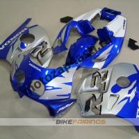 Комплект Мотопластика Honda CBR250 MC22 Сине-Серебристый.