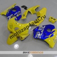 Комплект Мотопластика Honda CBR250 MC22 Сине-Желтый.