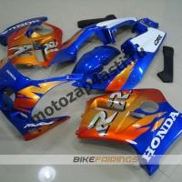 Комплект Мотопластика Honda CBR250 MC19 Оранжево-Синий.