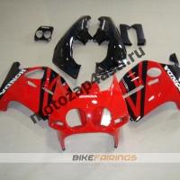 Комплект Мотопластика Honda CBR250 MC19 Красно-Черный-1.