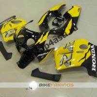 Комплект Мотопластика Honda CBR250 MC19 Желто-Черный-1.