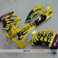 Комплект Мотопластика Honda CBR250 MC19 Желто-Черный-2.