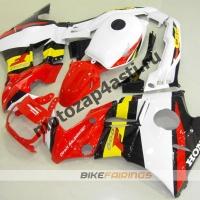 Комплект пластика Honda CBR600FS 91-94 Красно-Бело-Желто-Черный.