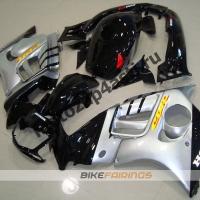 Комплект мотопластика Honda CBR600F3 95-98 Черно-Серебристый.