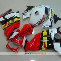 Комплект мотопластика Honda CBR600F3 95-98 Красно-Бело-Черно-Желтый.
