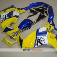 Комплект мотопластика Honda CBR600F3 97-98 Желто-Синий.