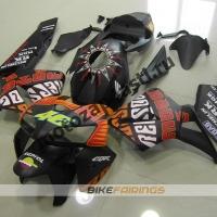 Комплект Мотопластик Honda CBR600RR 05-06 V.Rossi черный матовый.