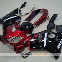 Комплект мотопластика Honda CBR600 F4i 01-07 Сток Красно-Черный-2.