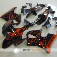 Комплект пластика Honda CBR900RR 98-99 Оранжево-черный.