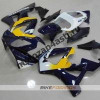 Комплект Мотопластика Honda CBR929RR 00-01 Бело-сине-желтый.