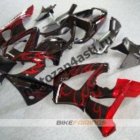 Комплект Мотопластика Honda CBR929RR 00-01 Черный с красным огнём.