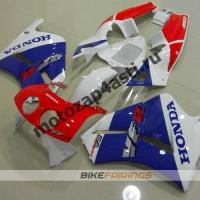 Комплект пластика Honda RVF400 Бело-красно-синий.