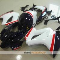 Комплект мотопластика Honda VFR800 02-12  Бело-Синий.
