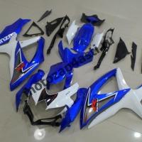Комплект пластика Suzuki GSXR600-750 08-09 Бело-синий штатный
