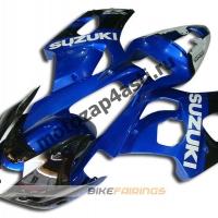 Комплекты пластика Suzuki GSXR1000 03-04 Сине-Черный.