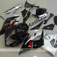 Комплекты пластика Suzuki GSXR1000 05-06 Черно-серебристый.
