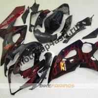 Комплекты пластика Suzuki GSXR1000 05-06 Черный с красным огнем.