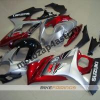 Комплекты пластика Suzuki GSXR1000 07-08 Черно-красно-серебристый.