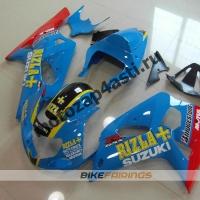 Комплект мотопластика Suzuki GSXR600-750 01-03,GSXR1000 00-02 RIZLA.