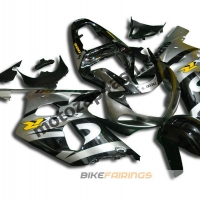 Комплект мотопластика Suzuki GSXR600-750 01-03,GSXR1000 00-02 Черно-серый-2.