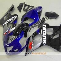 Комплект пластика Suzuki GSXR600-750 04-05 Черно-серо-синий.