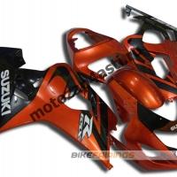 Комплект пластика Suzuki GSXR600-750 04-05 Черно-оранжевый.