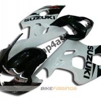 Комплект пластика Suzuki GSXR600-750 04-05 Черно-белый.