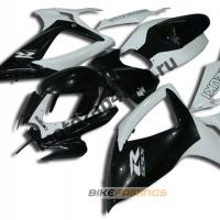 Комплекты пластика Suzuki GSXR600-750 06-07 Бело-Черный.