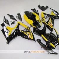 Комплекты пластика Suzuki GSXR600-750 06-07 Желто-Черный.
