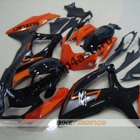 Комплекты пластика Suzuki GSXR600-750 08-09 Черно-оранжевый.