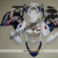 Комплекты пластика Suzuki GSXR600-750 08-09 бело-синий-1.