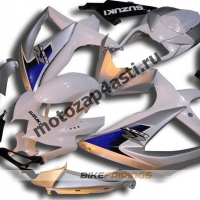 Комплекты пластика Suzuki GSXR600-750 08-09 бело-серебристый.