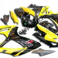 Комплекты пластика Suzuki GSXR600-750 08-09 Черно-желтый-2.