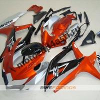 Комплекты пластика Suzuki GSXR600-750 08-09 Черно-оранжево-серебристый.
