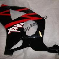 Боковинка Honda CBR954rr 02-03 левая Цвет: Черно-Красный