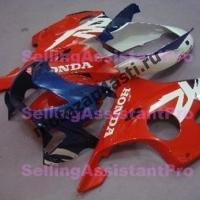 Комплект пластика Honda CBR600F4 98-00 Штатный Красно-Сине-Белый.