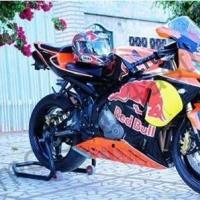 Комплект мотопластика Honda CBR1000RR 2006-2007 RedBull-2 Orange