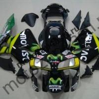 Комплект Мотопластика Honda CBR600RR 03-04 Movistars-Черный.