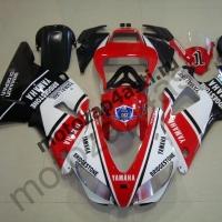 Комплект Мотопластика Yamaha R1 98-99 Бело-черно-красный