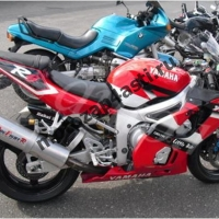 Комплект Пластика Yamaha R6 01-02 Штатный Черно-Бело-Красный
