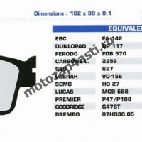 Колодки тормозные ST003 (Nissin 2p-202, EBC FA142)