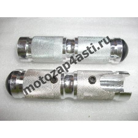 Подножки Передние универсальные POSH Тип-6 Серебро.