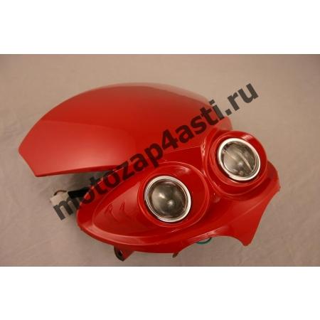 Стрит морда 2-ух Линзованная цвет: Красный