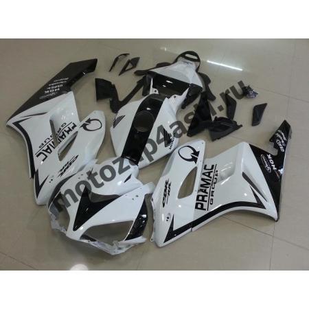 Комплект пластика Honda CBR1000RR 2004-2005 Бело-черный-2.