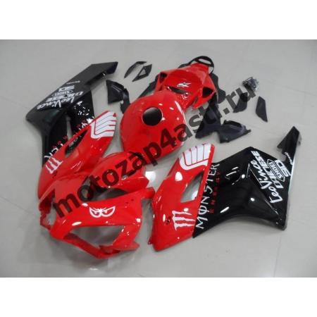 Комплект пластика Honda CBR1000RR 2004-2005 Красно-Черный-3.