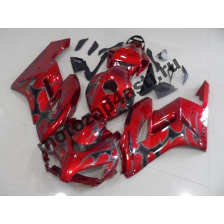 Комплект пластика Honda CBR1000RR 2004-2005 Красный с серым огнем.